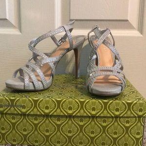 Silver studded heels